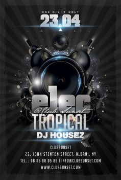 Electro Tropical Party Flyer by n2n44
