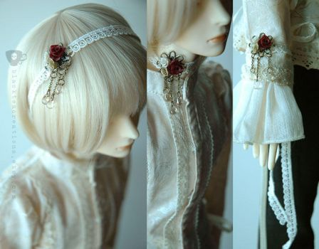 Rose and Lace SD BJD Headband by kyusai
