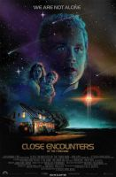 Close Encounter of the Third Kind Movie Poster II by Elswyse