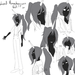 Human Lord Monochromicorn Ref by NightmareMiku