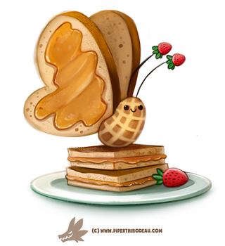 Daily Paint 1307. Peanut Butterfly by Cryptid-Creations