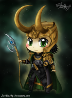 Chibi Loki Laufeyson - God of Mischief by Isi-Daddy