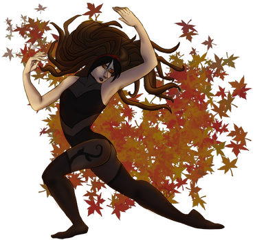 Pirouette of leaves by Wolf-of-DirtyPaws