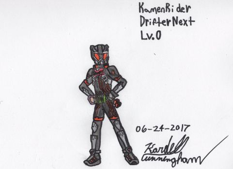 Kamen Rider Drifter Next Lv.0 by Dell-AD-productions