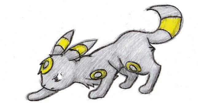 Simple Umbreon Drawing by pokefan444