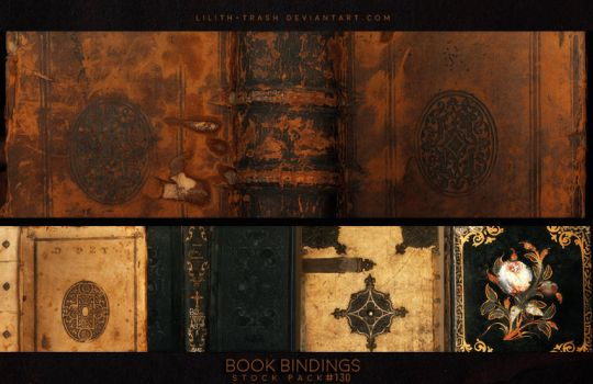 Book Bindings ( Stock Pack ) #130 by Lilith-Trash