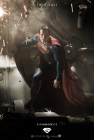 Superman - Man of Steel - Fan Poster by P2Pproductions