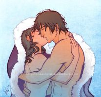 Ana and Victor kiss by OceanLord