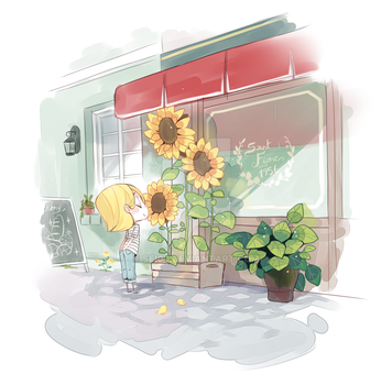 Sunflowers by Sei00