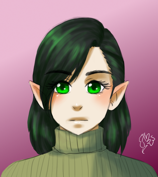 Quick Nameless Elf Doodle by MsLilly