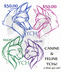 Multi-slot/Multi-Species YCH's - CLOSED!! by NinjaKato