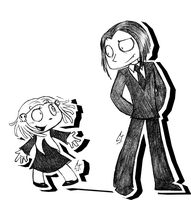 Lenore and Ragamuffin by Cryej