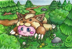 .::Fluff in the Grass::. by JessySketches