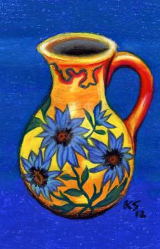 Yellow Pitcher by karlamuriel