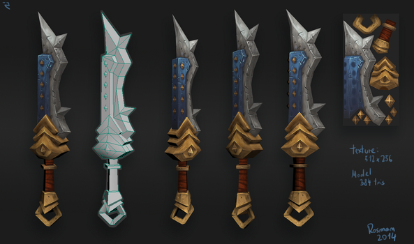 Hand Painted - Prince Sword by RosmanPL