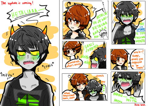 HUSSIE'S GONNA UPDATE  THIS MONTH [Fandomstuck] by Ask-Itsu-kun