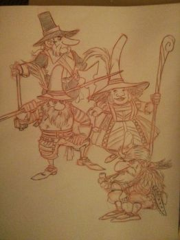 Lost Age D and D Dwarves by SteveLeCouilliard