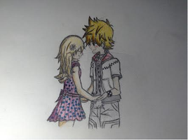 Roxas and Spring by VaniwieldsaX-blade