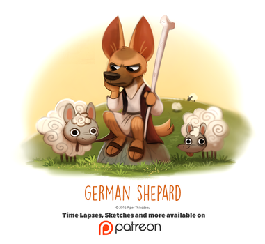 Day 1418. German Shepard by Cryptid-Creations