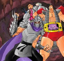 Shredder and Krang by Mawnbak