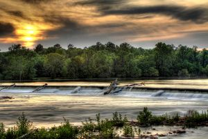 Broad River Spillway by Silicon640c