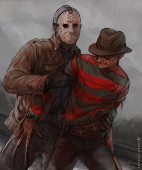 Freddy and Jason by TotesFleisch8