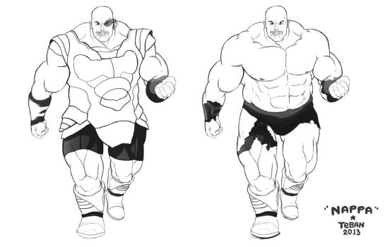 Teban Live action Nappa by Dorenma
