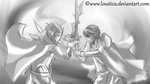 FE:A - Mad King Gangrel VS Chrom [Sketch] by Loustica