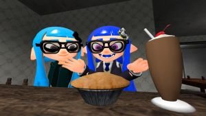 Georgia and Miyako Likes Pie (Splatoon GMOD) by Geoffman275