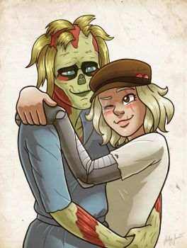 Commission: Sunny and Carol by Red-Flare