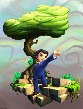 Phoenix Wright Bastion Style by snowicewater