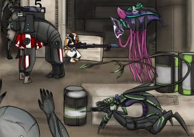 Everyone fights the reapers! by skyggedal