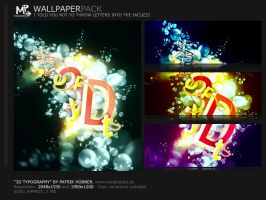 3D-Typography WallPack by MadPotato