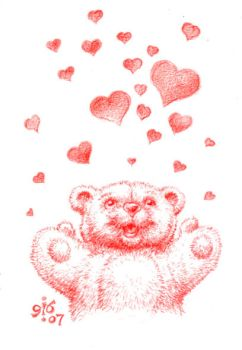 Bearly released valentine by PinupsByGib