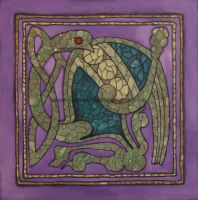Celtic Bird- Book of Kells by JesmondCat