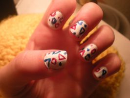 Togepi nails by mandymini