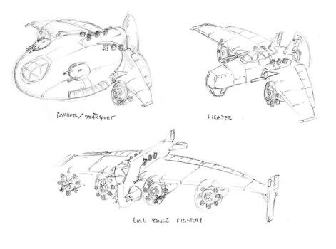 Fulgori Plane Sketches by TheDemonskunk