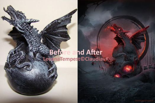 Before and After The eye of the Dragon by LevanaTempest