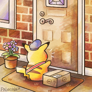 Special Delivery Pikachu by Paleona