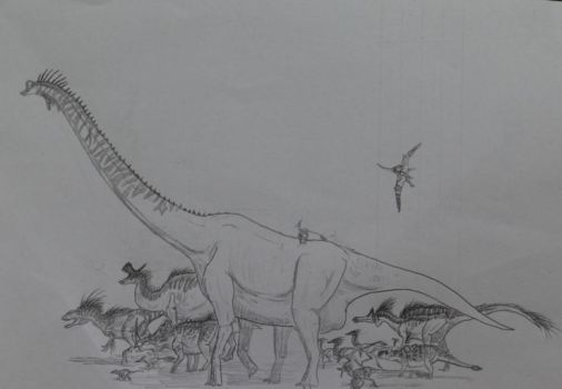March of the Dinosaurs by Mesozoic0906
