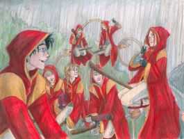 Quidditch Practice by burdge