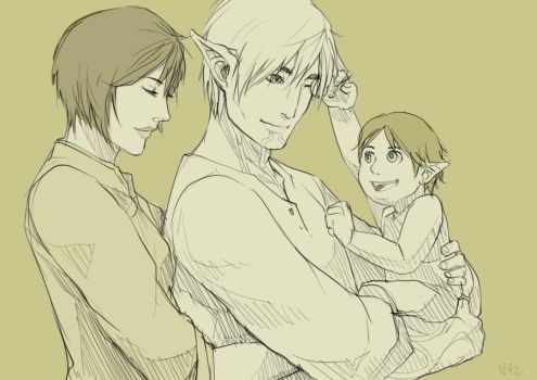 Fenris and Liz and Kiley by Billini