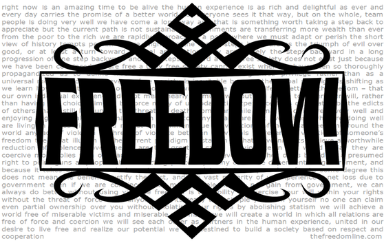 FREEDOM - Banner/Sign by Khaos-Pants