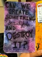 WRECK THIS JOURNAL! Ptv lyric page. by Naiengele