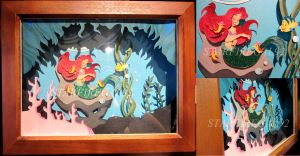 Little Mermaid Shadowbox by starfiregal92