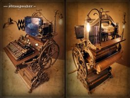 Steampunk Computer by steamworker