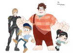 Wreck-It Ralph Characters by Reallyfaster