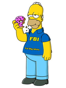 Homer as a F.B.I. Agent by ConsoreD