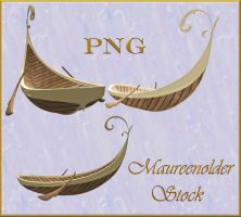 STOCK PNG fantasy boat by MaureenOlder