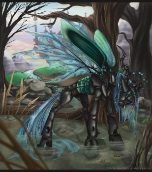 Queen Chrysalis by Key-FeathersMLP